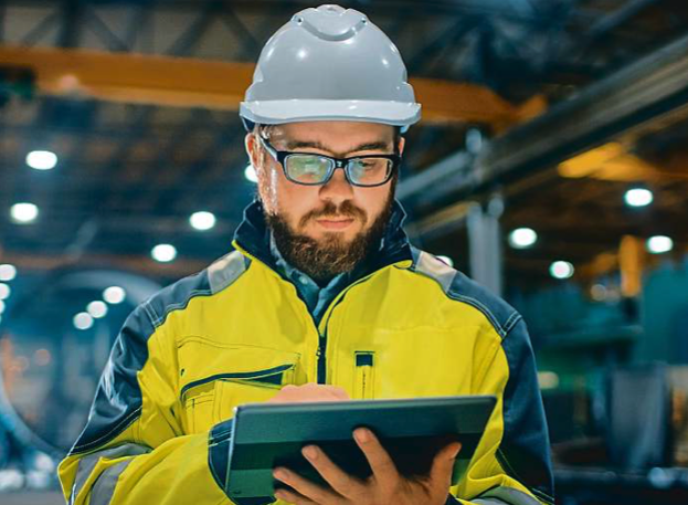 use of custom-built software and tablets in production